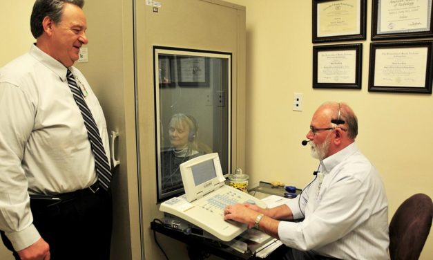 Hospital opening Audiology Dept., hearing aid outlet