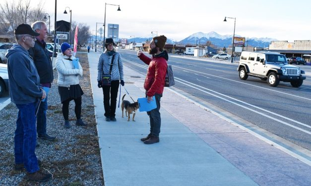 Walking along Highway 50, talking about possibilities