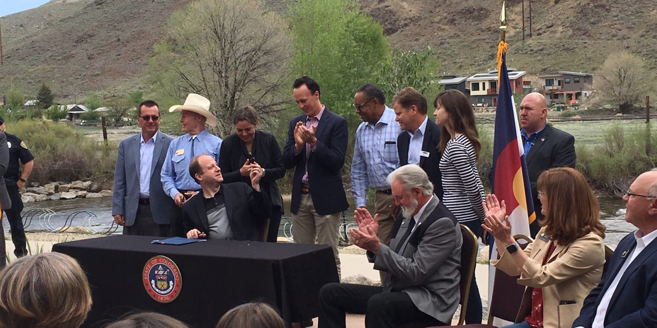 Colorado Gov. Polis signs nine bills into law in Salida