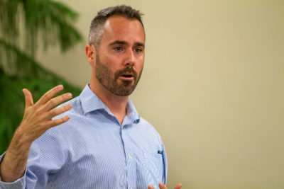 Democratic Senate candidate Dan Baer