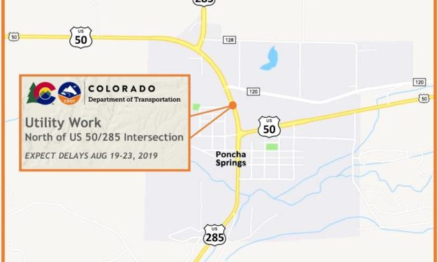 CDOT announces utility work traffic delays for Poncha Springs beginning Aug. 19