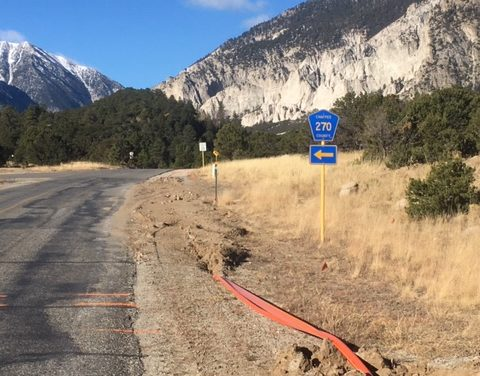 Process of plowing broadband conduit toward Chalk Creek Canyon has begun, sort of