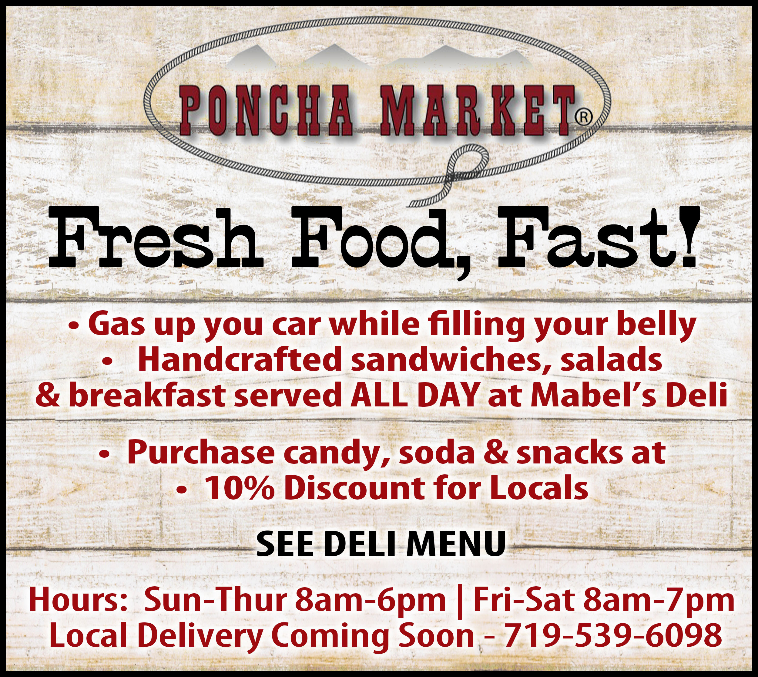Poncha Market Sidebar