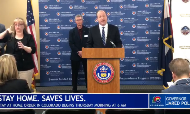 Colorado Governor Jared Polis Issues Stay at Home Executive Order, effective March 26