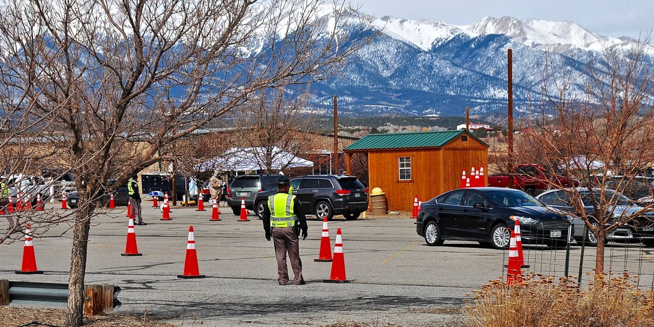 State Health Dept.Tests for COVID-19 at Chaffee County Fairgrounds