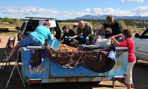Chaffee County Residents Take Advantage of Potato Giveaway