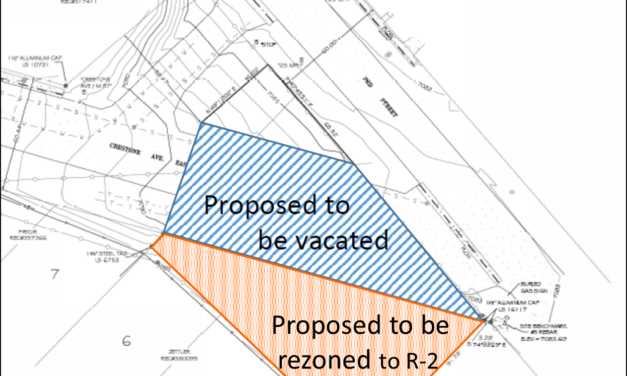 Salida Council to hear First Reading of Rezoning and Vacationing of Crestone Ave. Parcel