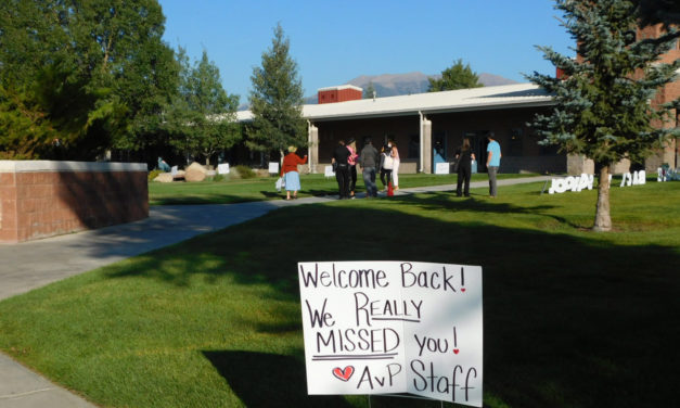 Sweet signs welcome BV students back to class