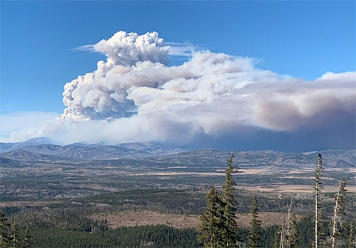Sylvan Wildfire in Eagle County Doubles in Size Overnight