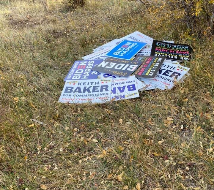 Campaign sign vandalism increasing in Chaffee County