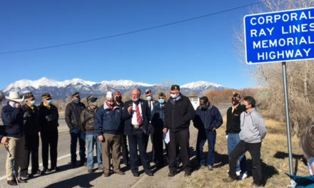 Veteran Henry Ray Lines Remembered on Veterans Day in Salida and For Future Generations with a Highway in His Honor