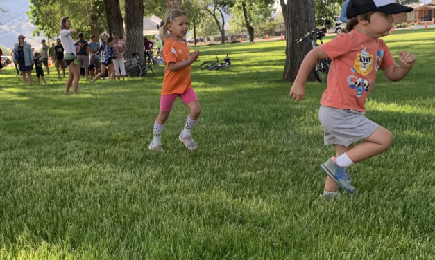FIBArk Kids Fun Run, Happy but Tired Kids and Parents